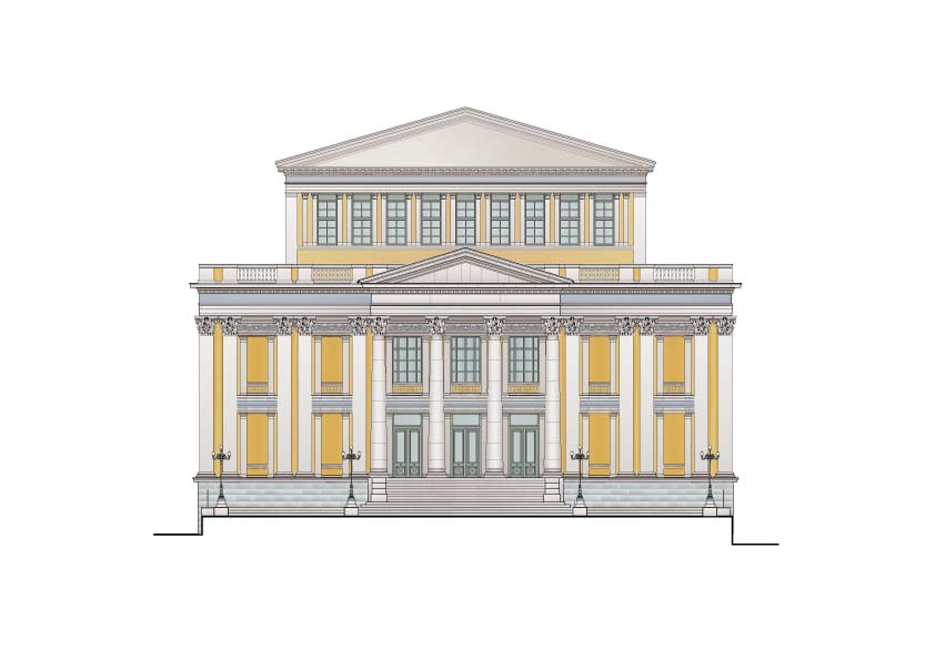 Φωτογραφίες έργων - Architectural Portfolio Piraeus Municipality Theatre (2000 seats), Greece -proposal