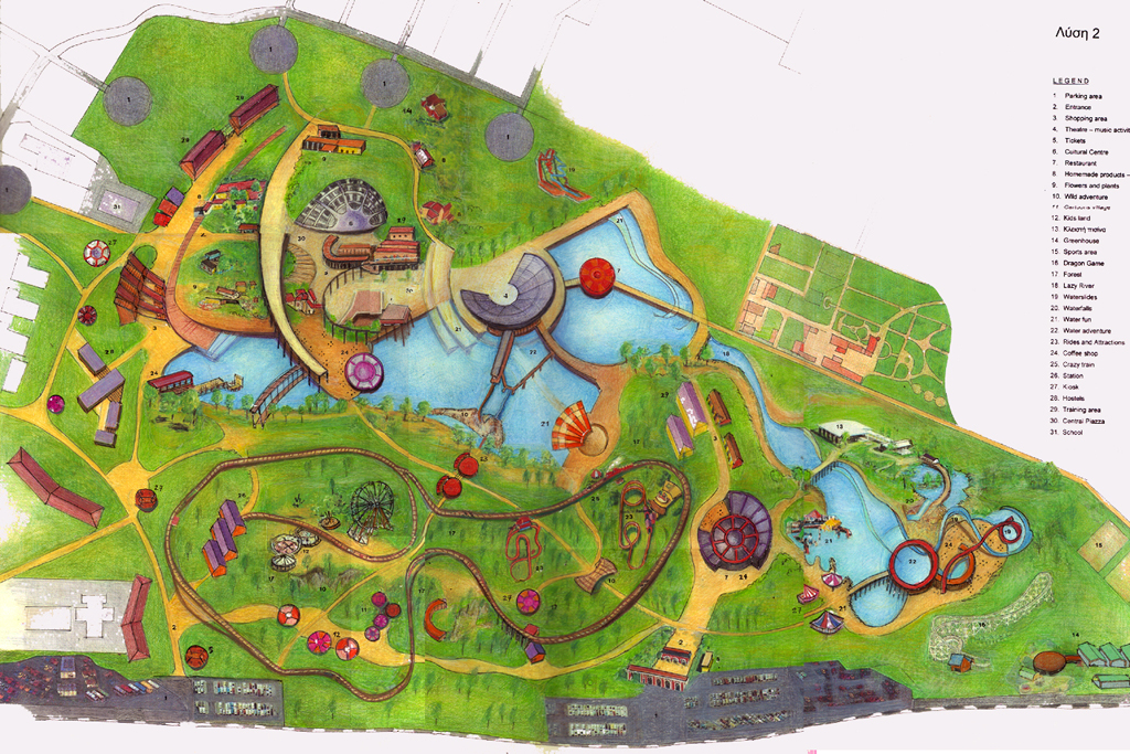 "Φωτογραφίες έργων - Architectural Portfolio Proposal for the development of a theme park inside Antonis Tritsis ""Environmental Awareness Park"""